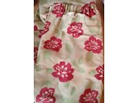 "Two pairs curtains (four curtains) each measure 54"" drop and 42 "" wide like brand new with cushions"