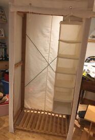 Cream Fabric/Cotton/Canvas Wardrobe