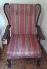 ALL OFFERS CONSIDERED. Pair of dark wood chairs.