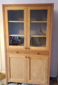 Laura Ashley Brompton Oak Display Cabinet