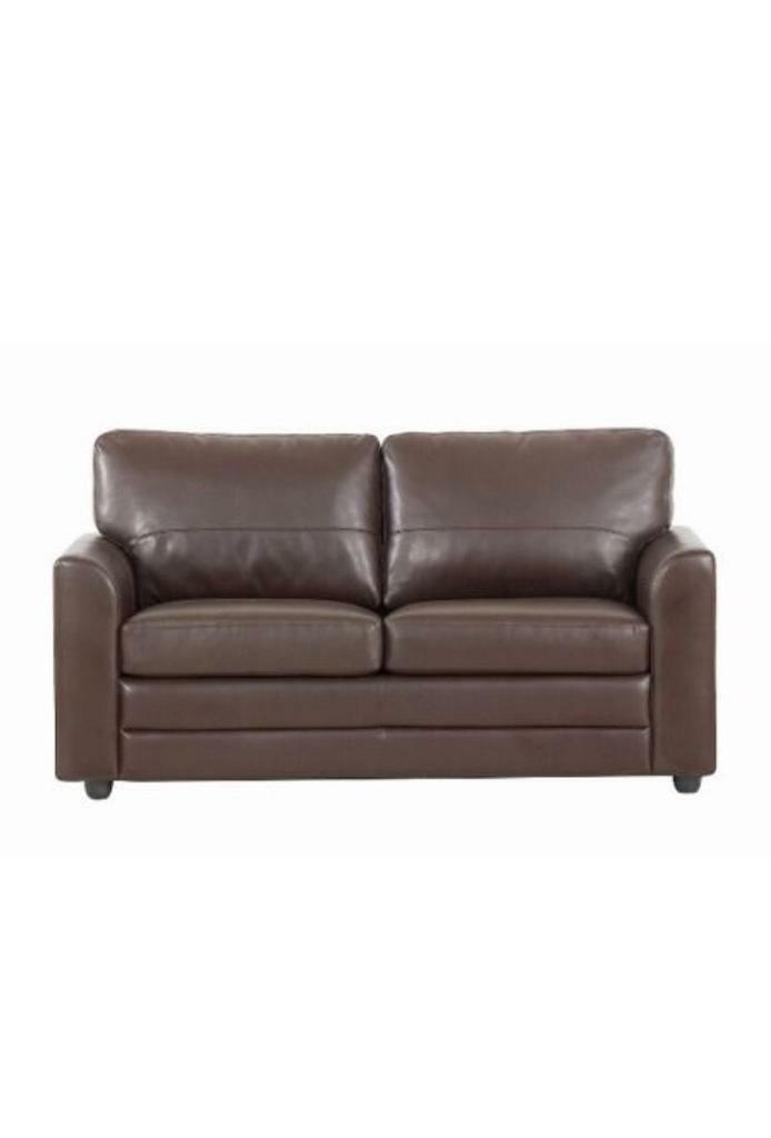 Brown leather sofa bed - excellent condition!