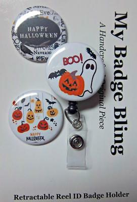 HALLOWEEN THEME 3 Designs  -  Exchangeable System for Retractable Reel ID Holder