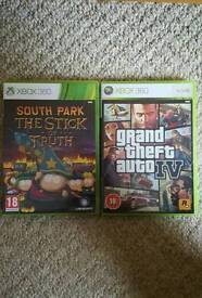 Xbox 360 games GTA and South Park