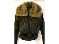Ladies Real leather coat