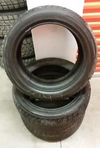 (H161) 3 Pneus Hiver - 3 Winter Tires 225-50-18 Bridgestone