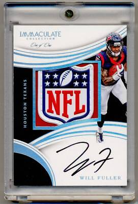 ad217f1ce 2016 Panini Immaculate Rookie Patch Autograph WILL FULLER RC Auto NFL  Shield 1 1