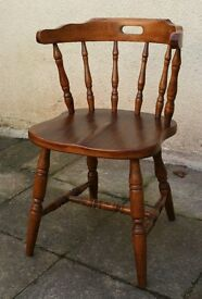 Solid Pine Captains Chair