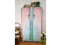 Beautiful Romantic Shabby Chic Style Wardrobe Hand Painted in Annie Sloan , We Deliver !