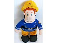 "14"" Large Interactive Fireman Sam Soft Toy"