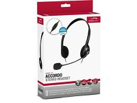 Stereo Headset with microphone (for Skype etc) [SpeedLink Accordo]