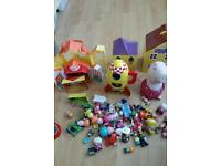 3 peppa pig house's 1 soft peppa pig cuddly toy and peppa pig rocket and lot's of figures