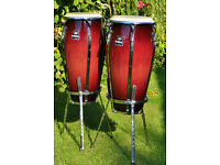 Meinl Floatune Congas with stands and cases