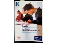 ACCA F4 (ENG) Kaplan Study Text and Exam Kit - excellent condition