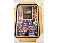 Limited edition framed reading Fc legends print showing madjeski stadium brand new