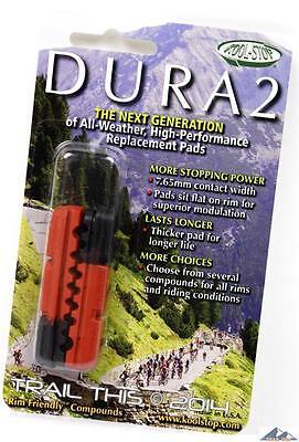 - Kool-Stop Dura2 DUAL COMPOUND Road Bike Brake Pads Shoes Black & Salmon Shimano