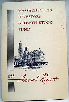 MASSACHUSSETS INVESTORS GROWTH STOCK FUND 1955 ANNUAL REPORT BROCHURE VINTAGE