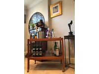 FABULOUS DANISH 1970's BAR CART / DRINKS TROLLEY with LIFT-OFF BUTLER'S TRAY
