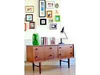 Vintage Danish Teak Dressing Table /Drawers/ Sideboard. Delivery. Midcentury/ Modern.