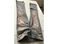 Gorgeous 2 shade Brown-Blue TOPSHOP BRANDED DESIGNER Petite Ladies SIZE 10 JEANS BARGAIN!!ONLY £10!!