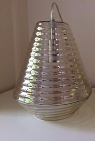THEA CHAMPAGNE GLASS PENDANT LAMP SHADE CEILING LIGHT