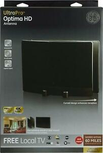 GE 34137 UltraPro Optima HDTV Antenna For VHF / UHF Channels - Indoor TV Antenna-60 Mile Range