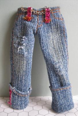 2006 Bratz Fashion Doll Clothes PRINCESS YASMIN denim capris-pink sparkly -