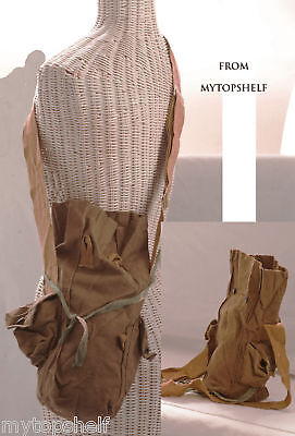 Russia Soviet Military Tall Shoulder Bag Pockets Khaki Surplus Vintage Growler