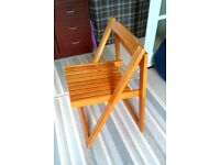 Wooden Folding Chairs x 3 VGC