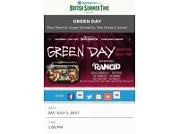 2 x Greenday in Hyde Park general admission tickets plus special guests