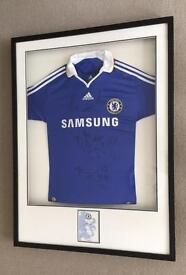 Chelsea football shirt 2007/08 Framed , signed and certified