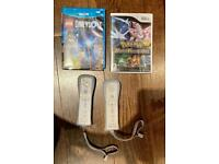 2x Wii Remote Controller with Built-in MotionPlus Sensor and 2x Wii games