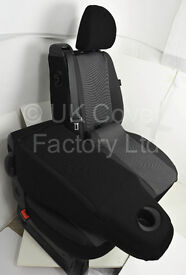 Vauxhall Vivaro Renault Trafic 2015+ New Shape Driver Single and Double Made to Measure Seat Covers