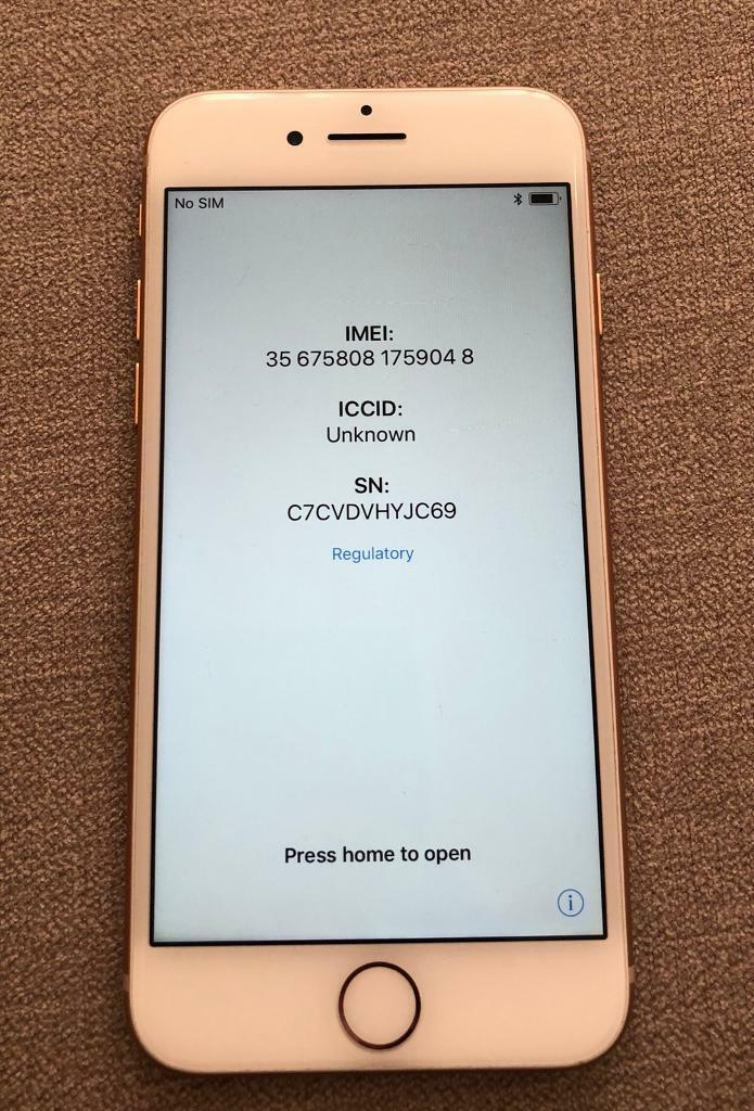 IPhone 8, 64gb, FAULTY for parts  IC | in Surbiton, London | Gumtree