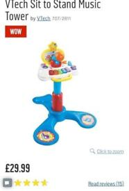 Tech sit to stand music tower - toy piano