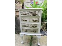 Shabby Chic Unique Look Solid Wood Chest of Drawers.