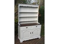 Gorgeous Large Shabby Chic Vintage / Retro Oak Welsh Dresser