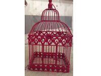 Beautiful Pink Bird Cage