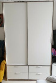 Double Wardrobe with 4 Drawers. Mint Condition