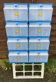 Van Racking / Shelving / Boxes - BRI-STOR - 8 Boxes - V G Condition - Includes Fixing Screws
