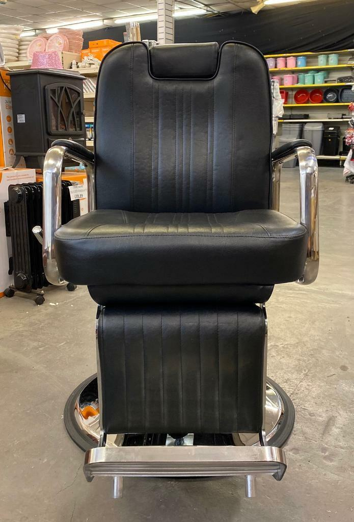 Astonishing Black Leather Barber Chair In Thurmaston Leicestershire Gumtree Gmtry Best Dining Table And Chair Ideas Images Gmtryco