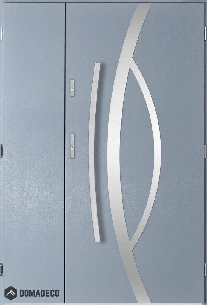 Kastor Uno - front doors with side panels, double glazed front doors on