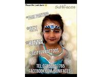 Face painting Henna Glitter tattoos Christening Weddings Night clubs Children / Christmas parties
