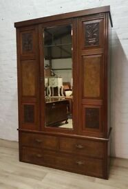 Edwardian Wardrobe (DELIVERY AVAILABLE FOR THIS ITEM OF FURNITURE)