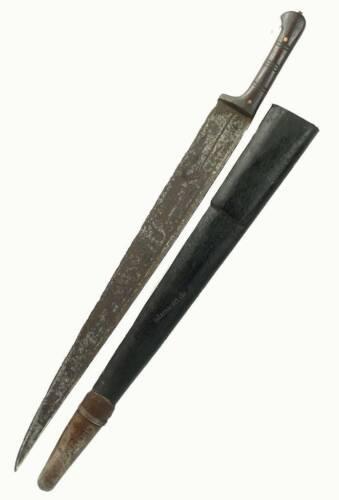 antique islamic Afghan Khyber Knife Straigh Blade Short sword Dagger Messer KH27