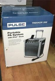 Portable PA System with IPod Dock **PULSE**