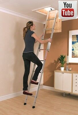 YOUNGMANS SPACEMAKER ALUMINIUM LOFT LADDER| 302340  2 Section Ladder
