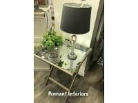 Was £120 Now £90 Antique mirror butler tray table Height 59cm Width 52cm Depth 52cm