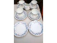 Pretty Bone china cups saucers and tea plates