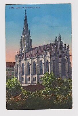 SWITZERLAND Basel St. Elisabethkirken, used Basel 1934