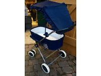 Silver Cross 4x4 Folding Pram - Childs Baby Kids Pushchair Bed Buggy Stroller